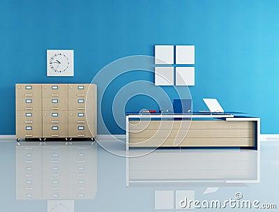 Blue office interior
