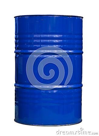 Blue oil barrel