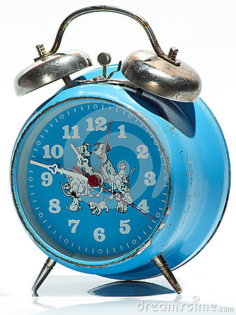 Blue Old Clock