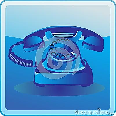 Free Blue Old Telephone Stock Photos - 18732923