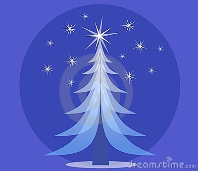 Blue Opaque Christmas Tree