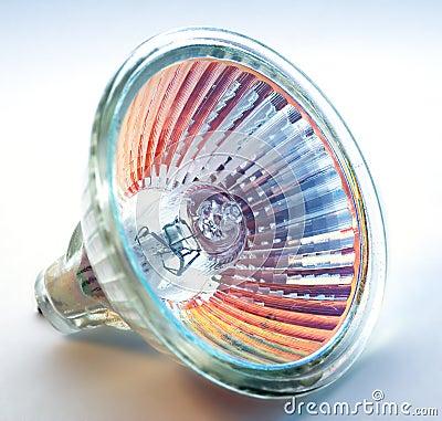 Blue-orange halogen light bulb