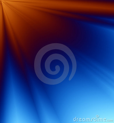 Blue & Orange Rays of Light Background