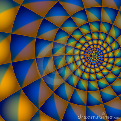 Blue and Orange Spiral