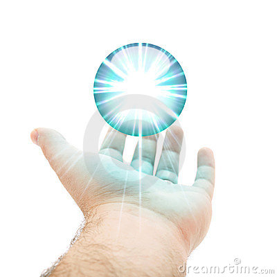 Blue Orb Hand