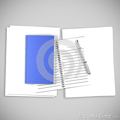 Blue Organize Book For write