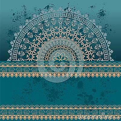 Free Blue Oriental Grunge Henna Mandala Background Stock Image - 49991701