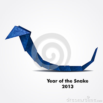 Free Blue Origami Snake Royalty Free Stock Photos - 25670908