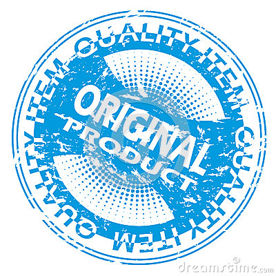 Blue Original product seal design