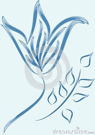 Blue ornament flower