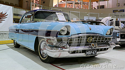 Blue Packard Executive 1956 Classic Car Editorial Stock Photo
