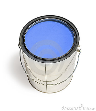 Free Blue Paint Can Royalty Free Stock Images - 4216779
