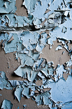Free Blue Paint Peeling Off Wall Stock Photos - 19391843