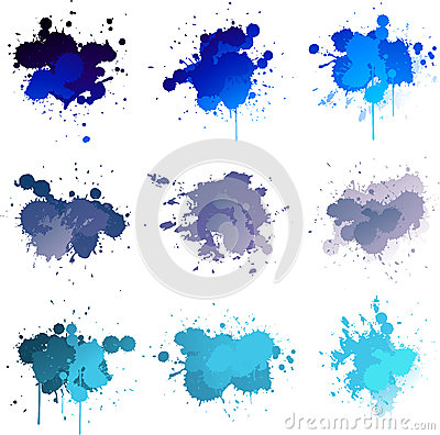 Blue paint splat