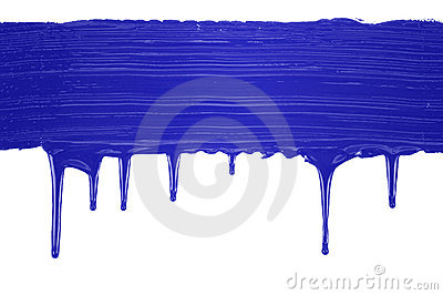Blue painted line