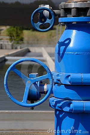 Blue Painted Pipes and Stainless Steel