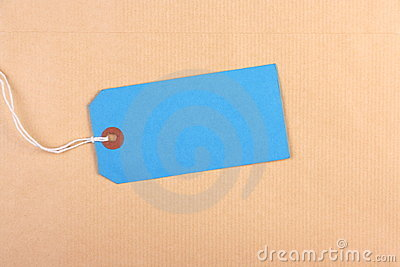 Blue Paper Luggage Tag
