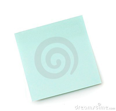 Blue paper sticker