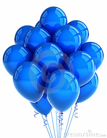 Free Blue Party Ballooons Royalty Free Stock Images - 19816279