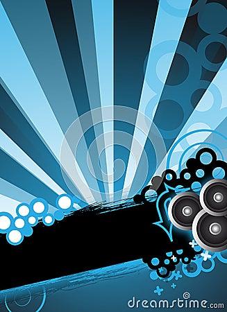 Blue party design concept