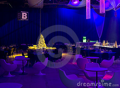 Blue party lighting
