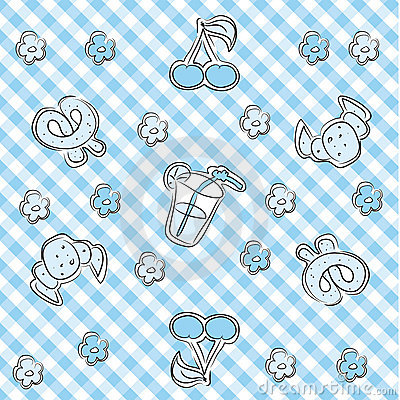 Blue pastel baby background
