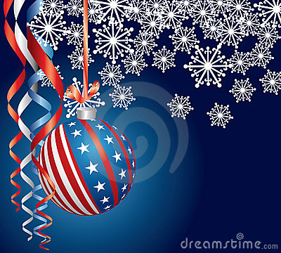 Free Blue Patriotic Christmas Royalty Free Stock Photos - 16304118
