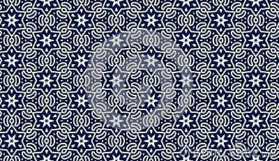 Blue pattern with stars