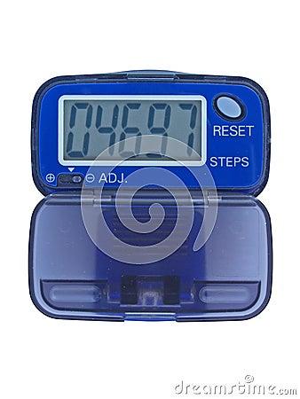 Blue pedometer