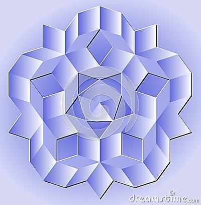 Blue Penrose Tiling