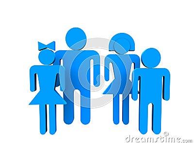 Blue people 3d
