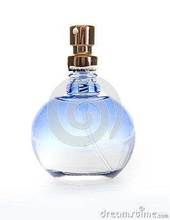 Free Blue Perfume Bottle Royalty Free Stock Photo - 12506055