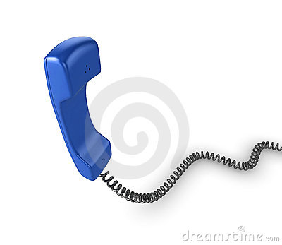 Blue phone handset