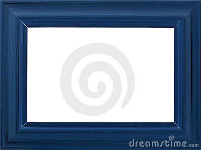 Blue photo frame