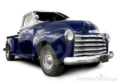 Blue pick up truck