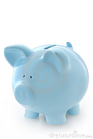 Free Blue Piggy Bank Stock Photography - 4688562