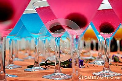 Blue & Pink Cocktails