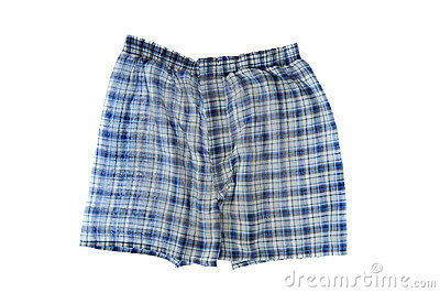 Blue Plaid Boxers
