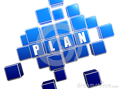 Blue plan in blocks