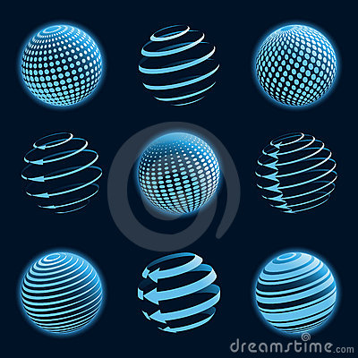 Blue Planet Icons. Stock Photography - Image: 20657272