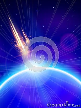 Blue Planet & Meteor Storm