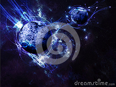 Blue Planet Space Scene Background