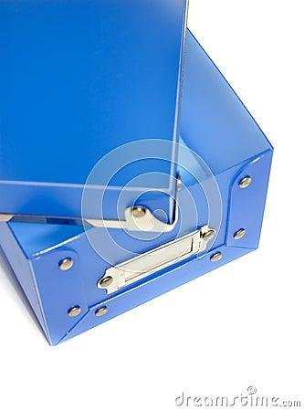 Free Blue Plastic Box Royalty Free Stock Image - 607846
