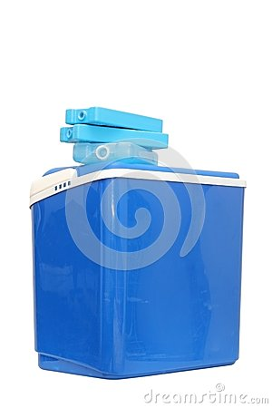 Free Blue Plastic Cooling Box Royalty Free Stock Photos - 29520058
