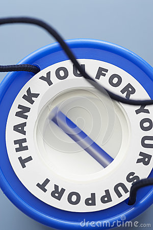 Free Blue Plastic Money Box View From Above Stock Images - 30848094