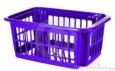 Blue plastic storage box