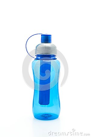 Free Blue Plastic Water Bottle Or  Canteen Stock Images - 102189124