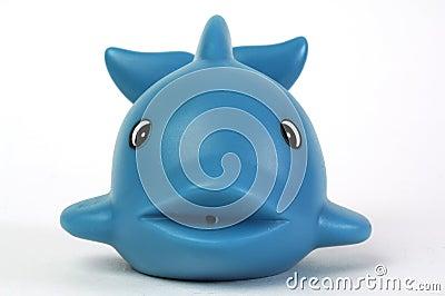 Blue plastic whale