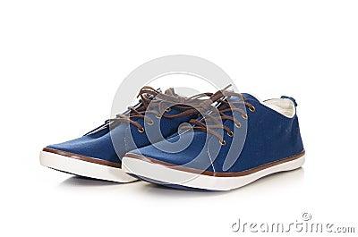 Blue plimsolls