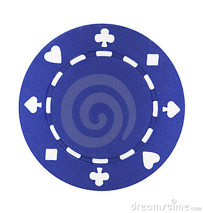 Free Blue Poker Chip Stock Photos - 2077093